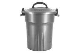 PLAST TEAM Pojemnik amerykański, wiadro z/p 25 L srebrny