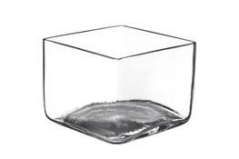 IRENA Wazon szklany h-11 cm kwadratowy