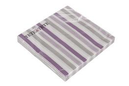 Serwetki papierowe fioletowe paski 20 sztuk 33 x 33 cm