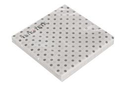 Serwetki papierowe białe w szare kropki 20 sztuk 33 x 33 cm
