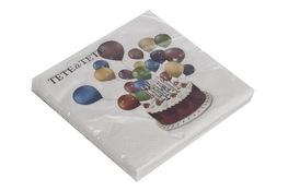 Serwetki papierowe tort z balonami 20 sztuk 33 x 33 cm