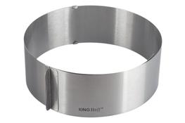 KINGHOFF Regulowana obręcz do tortów 16-30 cm