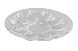 JASŁO Talerz szklany 22 cm na jajka