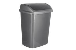CURVER DOMINIK Kosz na śmieci uchylny 10 L srebrny