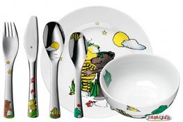 WMF Sztućce i naczynia dla dzieci JANOSCH zestaw 6 sztuk