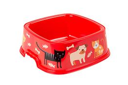 HEGA ZWI Miska dla psa, kota kwadratowa 1.6 L - mix kolorów