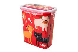 HEGA NIZA ZWI Pojemnik na karmę dla psa, kota 2 L - mix wzorów