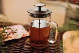 TERMISIL Zaparzacz żaroodporny do kawy, ziół i herbaty 1 L