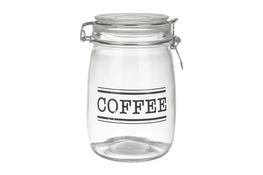 KOOPMAN Słoik z klipsem COFFEE/SUGAR/TEA - mix wzorów