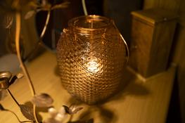 KOOPMAN Lampion świecznik szklany duży h-27 cm