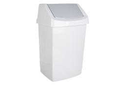 CURVER Kosz na śmieci uchylny CLICK-IT 50 L biały marmurek