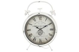 KOOPMAN Zegar ścienny retro biały