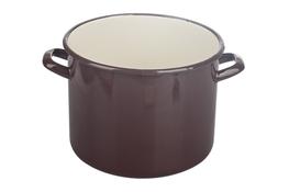 EloPol garnek wysoki emaliowany 6 L brązowy