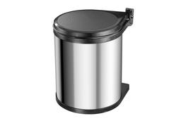 Hailo Compact-Box kosz na śmieci M 15 L srebrny
