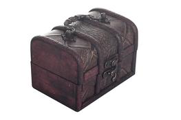 Kuferek, pudełko drewniane 12 x 8.5 x 8.5 cm