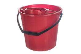 Świat wiadro plastikowe okrągłe 10 L z wyciskaczem czerwone