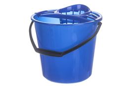 Świat wiadro plastikowe okrągłe 10 L z wyciskaczem niebieskie