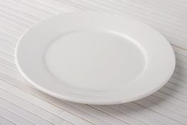 Talerz deserowy porcelanowy 17.5 cm super white