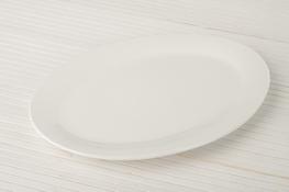 Półmisek porcelanowy owalny 30.2 x 21 cm super white