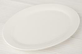 Półmisek porcelanowy owalny 35 x 24.7 cm super white