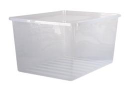 PLAST TEAM BASIC Pojemnik z pokrywą 130 L przeźroczysty