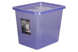 PLAST TEAM BASIC Pojemnik z pokrywą 29 L fioletowy