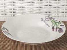 Talerz obiadowy głęboki ceramiczny 22.8 cm lawenda