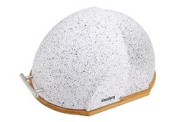 Klausberg chlebak metalowy z drewnianą podstawą 37 x26.5x19cm mix