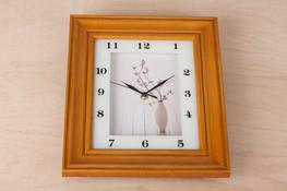 Zegar ścienny prostokątny 33.2 x 28.2 x 5 cm