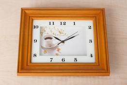Zegar ścienny prostokątny 28 x 33 x 5 cm