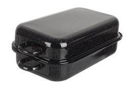 Brytfanna, gęsiarka metalowa emaliowana 35 cm czarna