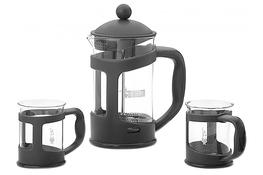 BIALETTI COFFEE PRESS Zaparzacz 0.8 L+2 kubki czarny