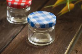 Słoiczek szklany 6-kątny na przyprawy 20 ml mix kolorów