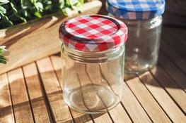Słoiczek szklany okrągły na przyprawy 80 ml mix kolorów