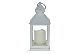 Latarnia LED tworzywo sztuczne h-23 cm biała