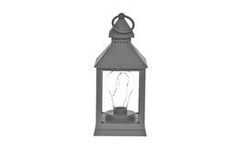 Latarnia LED tworzywo sztuczne h-23 cm szara