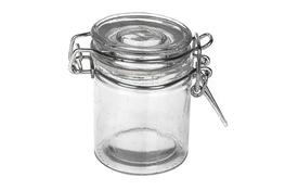 Słoiczek szklany z klipsem 40 ml okrągły