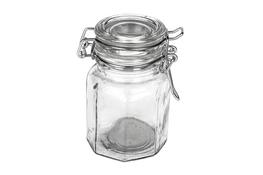 Słoiczek szklany z klipsem 70 ml sześciokątny