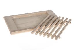 AAA Deska kuchenna drewniana z kratką 36 x 21.5 cm