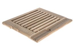 AAA Deska kuchenna drewniana z kratką 36 x 29 cm