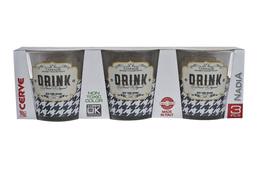 CERVE Komplet 3 szklanek Nadia 250 ml