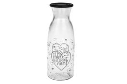 CERVE Butelka/karafka szklana 1 L z zakrętką Sweet Home
