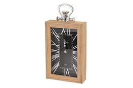 KOOPMAN Zegar w drewnianej ramie 30 x 20 cm - mix wzorów