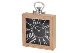 KOOPMAN Zegar w drewnianej ramie 24 x 24 cm - mix wzorów