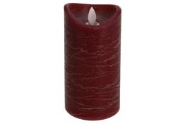 KOOPMAN Świeca led 7.5 x 15 cm czerwona