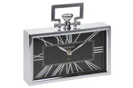 KOOPMAN Zegar prostokątny metalowy 25 x 23 cm - mix wzorów