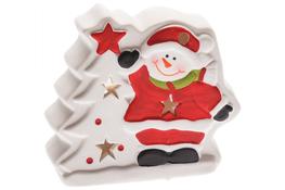 KOOPMAN Świąteczna figurka domek z podświetleniem led 11 cm - mix wzorów