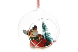 KOOPMAN Szklana kula z figurką świąteczną 9 cm - mix wzorów