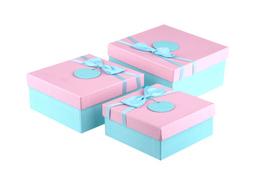 Komplet trzech pudełek prezentowych mix wzorów