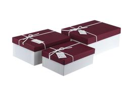 Komplet trzech pudełek prezentowych mix kolorów